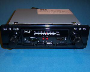 NEW MODERN SHAFT STYLE PYLE AM/FM RADIO USB SD/MMC MP3  FORD MUSTANG &  MORE