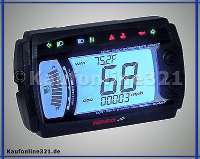 Tacho Tachometer Koso XR-SRN universal NEU Motorrad Roller Quad, BB017B00-