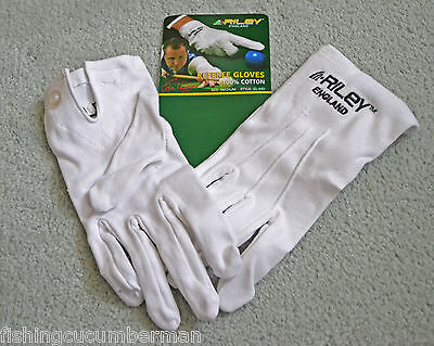 Riley Snooker White Cotton referee Gloves