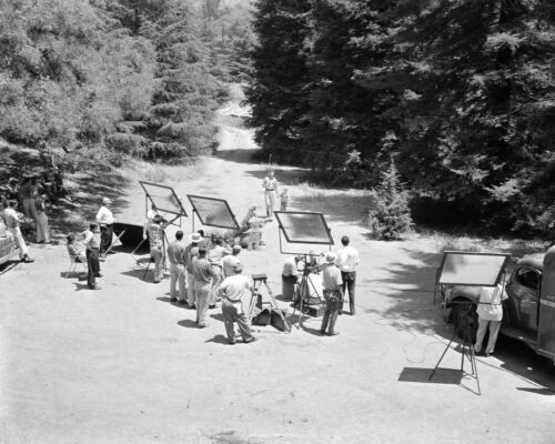 The Andy Griffith Show - TV SHOW PHOTO #E-24 - BEHIND THE SCENES