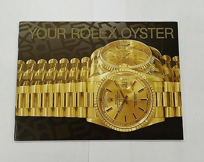 Authentic Vintage ROLEX OYSTER Booklet  Your Rolex Oyster Free shipping b