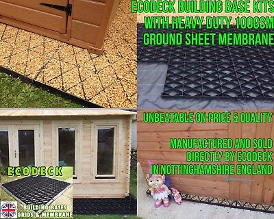7x5 SHED BASE KIT 7x6ft GARDEN GRAVEL GRID BASE + MEMBRANE PLASTIC GRAVEL GRIDS