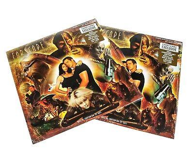 (2) FARSCAPE SOUNDTRACK LP METALLIC GOLD VINYL 2/1500 LTD