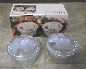 Covered Candy Dish - 2 Piece Set New