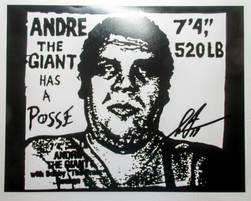 Shepard Fairey Signed Andre the Giant Has a Posse 11x14 Photo Print PROOF ACOA B