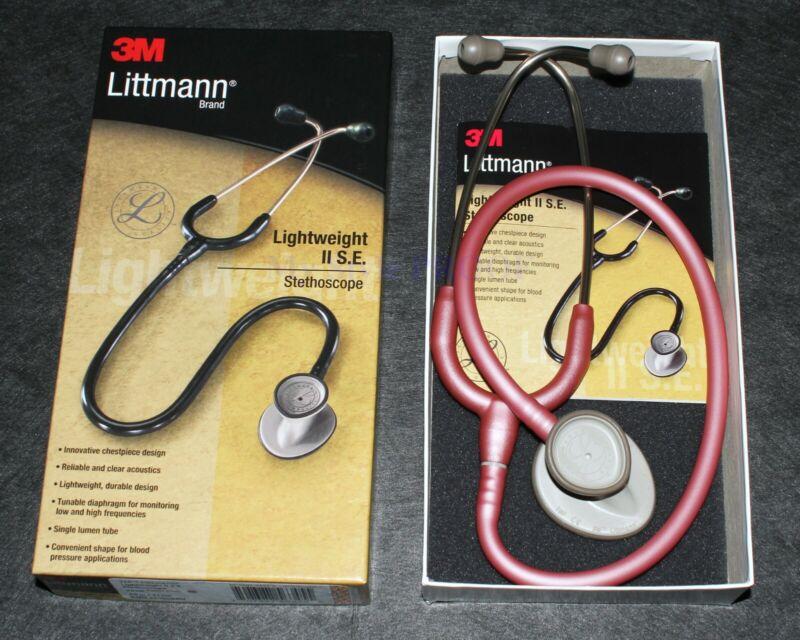 LITTMANN LIGHTWEIGHT II 2 SE STETHOSCOPE 3M 2456- PEARL PINK NEW in BOX! Nursing