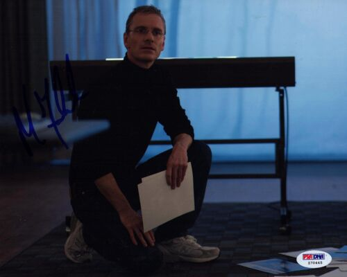 MICHAEL FASSBENDER SIGNED STEVE JOBS 8X10 PHOTO! AUTOGRAPH! PSA DNA