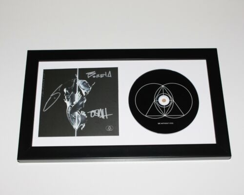 THE GLITCH MOB GROUP SIGNED FRAMED 'SEE WITHOUT EYES' CD COVER w/COA ALBUM x3