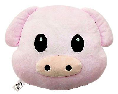 Pig Piggy Emoji Pillow Emoticon Cushion Soft Smiley 32cm NEW
