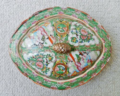 Antique Chinese Rose Medallion Famille Porcelain Tureen Bowl Vase NO RES
