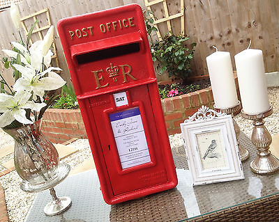 HIRE - ER royal mail red wedding post box, British Cast Iron in Wiltshire