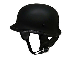 German style skull cap helmet  open face Matt black Gloss Carbon 5 tick approved