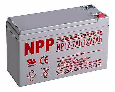 NPP 12V 7 Amp 12 Volt 7Ah Rechargeable Sealed Lead Acid Battery Terminal F2