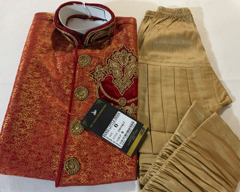 VASTRA Boys Kurta Dhoti sherwani Indian Pakistani Ethnic wedding Party Size 0