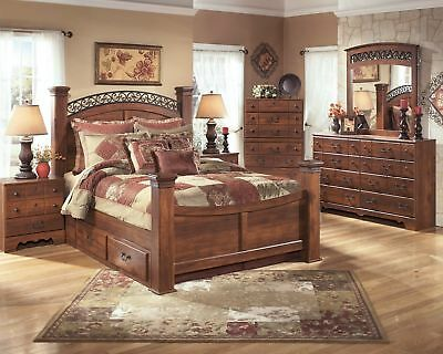 Ashley Furniture Timberline Queen 8 Piece Poster Bedroom Set ()
