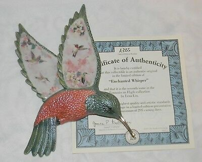 Enchanted Whisper Fantasies in Flight Lena Liu COA Wall Decor 3D COA Hummingbird