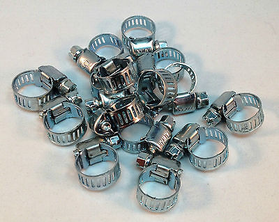 - 15 Pcs Stainless Steel Drive Hose Clamps  Worm Clips 3/8