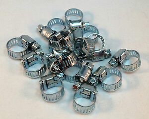 15 Pcs Stainless Steel Drive Hose Clamps  Worm Clips 3/8