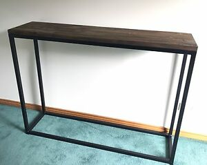 Steel hall table with timber top Wynyard Waratah Area Preview