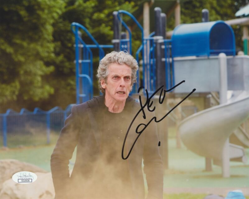 PETER CAPALDI SIGNED DOCTOR WHO 8X10 PHOTO JSA