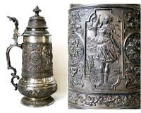 Gründerzeit Zinnkrug Zinn Pokal Felsenstein & Mainzer um 1880 Sachsen-Anhalt - Gommern Vorschau