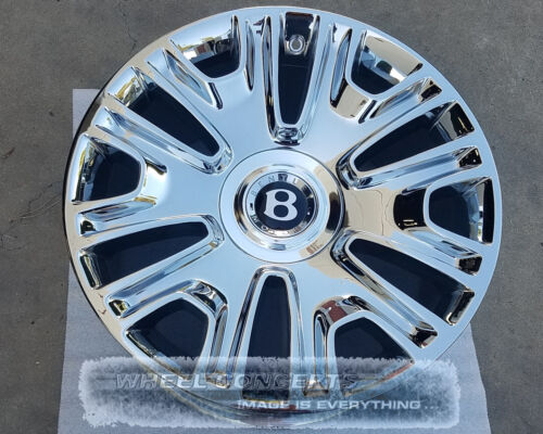 Bentley Continental Gt / Flying Spur 19 Inch Chrome Wheels Rims Cgt Cfs Mulliner