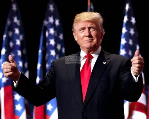 DONALD J. TRUMP 45TH PRESIDENT OF THE UNITED STATES - 8X10 PHOTO (AB-326)