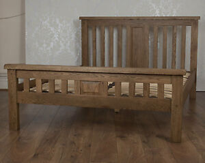 Chunky Solid Oak Dorset Country 5ft King Size Bed