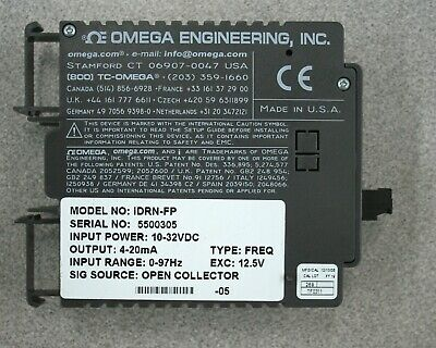 Omega Idrn-fp Signal Conditioner With Rs232c Communication Idrn-fp Idrnfp