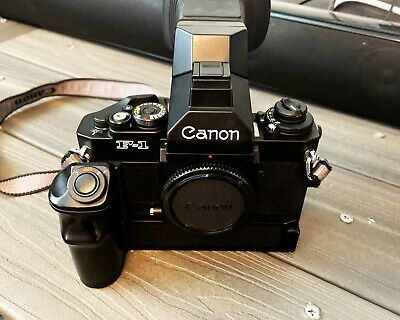 CANON F1N 35mm FILM SLR CAMERA WITH MOTOR DRIVE  And FN Speedfinder!!