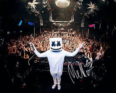 "DJ Marshmello Reprint Signed 8x10"" Photo #3 RP Autographed Electronic Dance DJ"