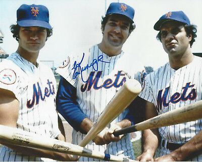 - NY Mets Ed Kranepool  autographed  8x10 color photo with Joe Torre