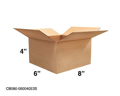 Mailing Moving Packing Shipping Cardboard Corrugated 8x6x4 Boxes 25 50 100 Pack