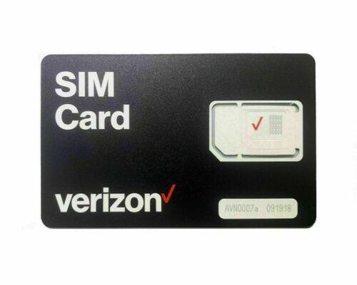 NEW VERIZON POSTPAID & PREPAID 4G 5G LTE TRIPLE SIM CARD 3 IN 1 Micro Nano Lot