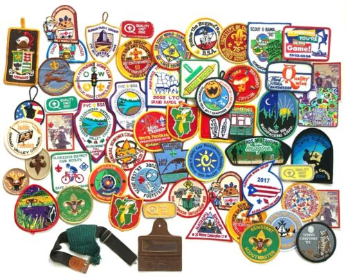 50+ Lot Boy Scout Patches Plus Key Ring and Band Jamboree Camporee Council Jubil