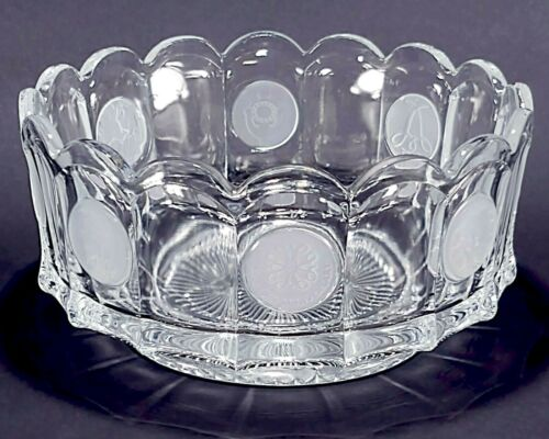 "Vintage Fostoria Coin Glass Clear 7 1/4"" Centerpiece Serving Bowl"