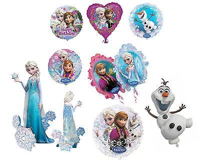 Disney's FROZEN Anna Elsa Olaf Foil HELIUM BALLOON Latex Happy Birthday Party ()