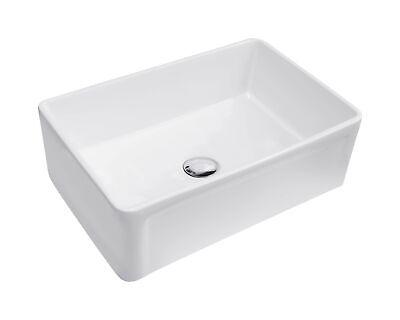 Ember Hearth 30 in. Farmhouse Single Basin Kitchen Sink, Undermount, White Po...