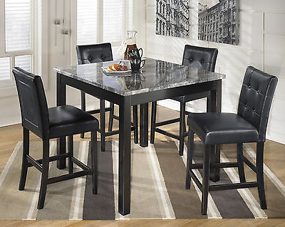 Ashley D154-223 Maysville Square Counter Height Dining Table 5 Pc Set