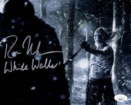 ROSS MULLAN Signed GAME OF THRONES White Walker 8x10 Photo Autograph JSA COA