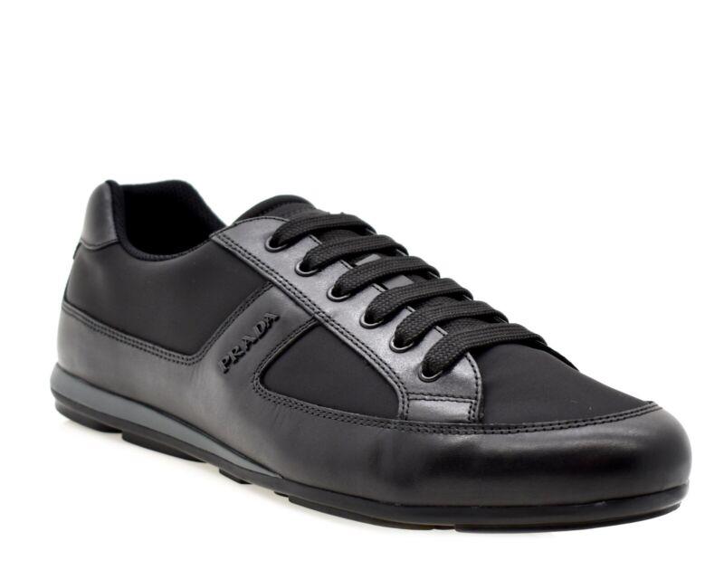 Prada Fashion Sneakers Black Nylon Size 10 New
