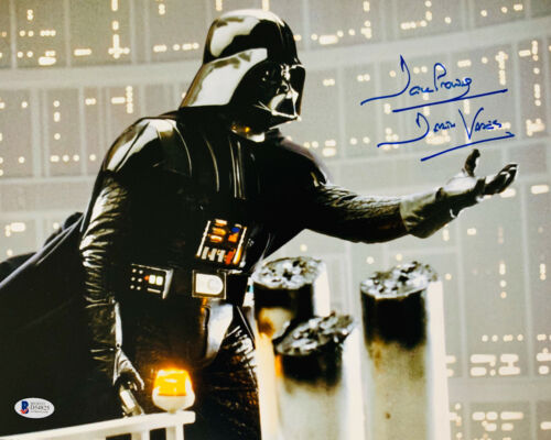 David Dave Prowse Signed Star Wars Darth Vader 11x14 Photo Beckett BAS 23