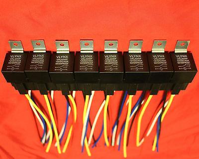 Qty10 Relay10 Interlocking 5 Pin Sockets 12v Dc 30 40a Waterproof Spdt