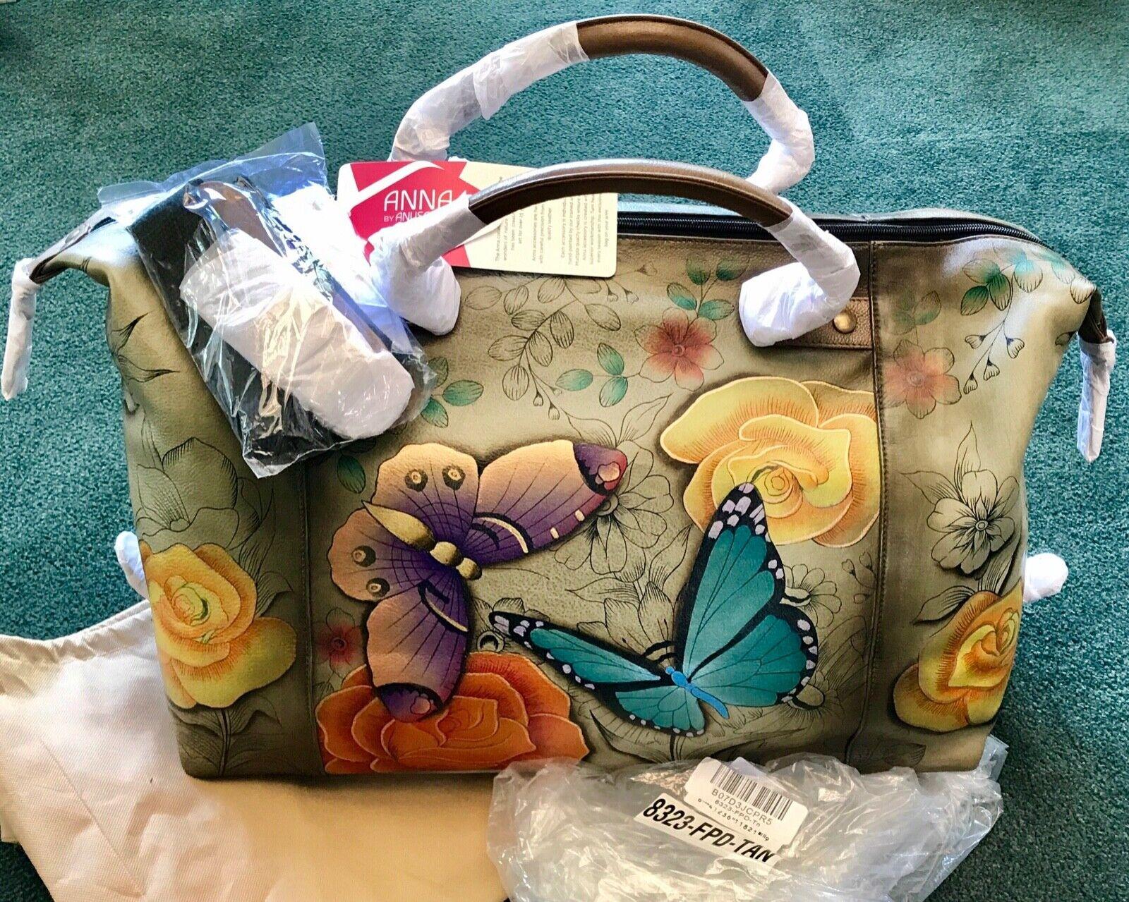 Anuschka🦋Anna NWT ZipTop TRAVEL Duffel Tote Bag+Strap🦋