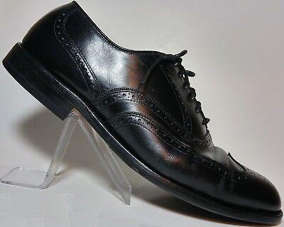 Allen Edmonds Chester Black Leather WingTip Oxford Dress Shoe 11.5D Heels Unused