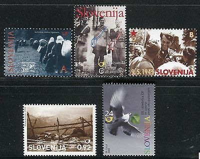 SLOVENIA 2001/08 WORLD WAR/DOVE/MILITARY/EXILES/PARTISAN/TRENCH/BARBED WIRE