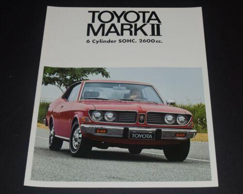 1974 TOYOTA MARK II Sales Brochure 2600 CC Canadian Market