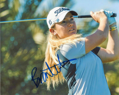 LPGA GOLFER BRONTE LAW SIGNED AUTHENTIC 8x10 PHOTO w/COA PROOF WOMEN'S GOLF