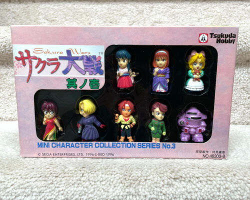 Sakura Wars - Mini Character Collection Series No. 3 - 1996 Tsukuda Hobby set