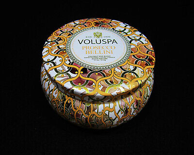 Voluspa Maison Blanc Collection Prosecco Bellini Metallo Two Wick Tin Candle 11  ()
